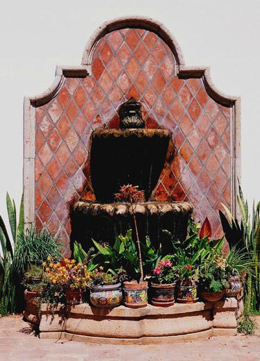 Hacienda style - Fuente para patio ...
